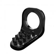 Черное эрекционное кольцо X-Basic Teaser Cockring