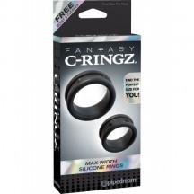 Набор из двух эрекционных колец Fantasy C-Ringz Max-Width Silicone Rings