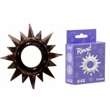 Эластичное черное кольцо для эрекции Lola