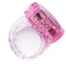 Розовое эрекционное вибро кольцо