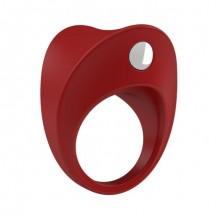 Эрекционное кольцо OVO с ультрасильной вибрацией красное
