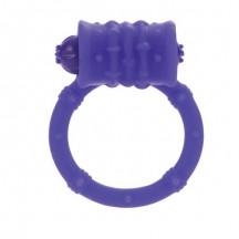 Стимулирующее кольцо с вибро-моторчиком фиолетовое Posh