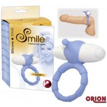 Smile Кольцо для пениса с вибрацией Loop голубое