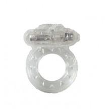 Прозрачное эрекционное кольцо с вибрацией