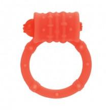 Стимулирующее кольцо с вибро-моторчиком апельсиновое Posh