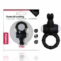 Черное виброкольцо Power Thrill Clit Cockring