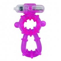 Виброкольцо фиолетовое Beefcake Dual Rings Vibe
