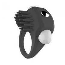 Эрекционное кольцо черное с вибрацией