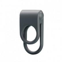 Эрекционное вибро-кольцо с петлёй на мошонку Julie