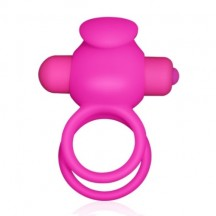 Двойное виброкольцо Double Cock Ring розовое