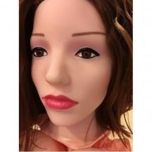 Кукла для секса с вибрацией с каштановыми волосами 3D Face Love Doll
