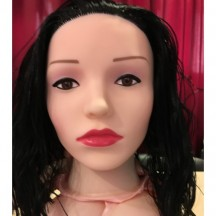 Кукла для секса с вибрацией брюнетка 3D Face Love Doll