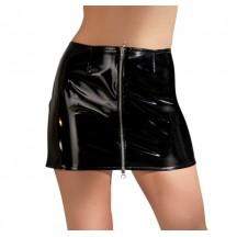 Виниловая юбка на молнии Black Level M