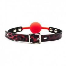 Силиконовый красный кляп-шарик на ремне
