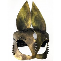 Hand-made маска с ушками зайчика и заклепками