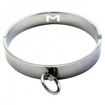 Классический широкий ошейник с кольцом для поводка