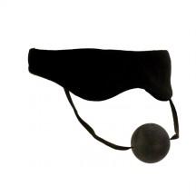 Маска с кляпом черная Plushy Gear