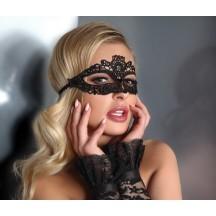 Романтическая черная кружевная маска