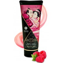 Съедобный массажный крем Shunga Raspberry Feeling со вкусом малины 200 мл
