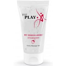 Гель-лубрикант на водной основе для эротического массажа Just Play с ароматом клубники 50 мл