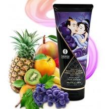 Съедобный массажный крем Shunga Exotic Fruits со вкусом экзотических фруктов 200 мл
