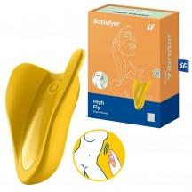 Перезаряжаемый вибратор на палец Satisfyer High Fly желтый