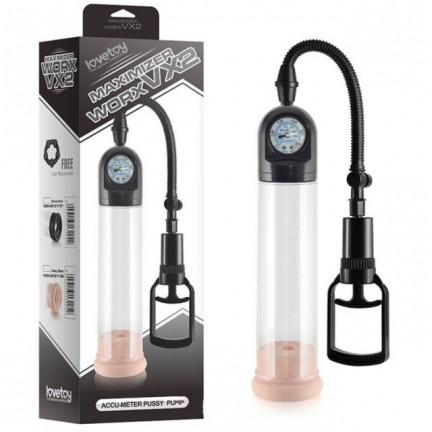 Вакуумная помпа для пениса Maximizer Worx VX2 Accu-Meter Pro Pump с мягкой насадкой