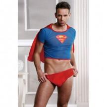 Костюм супермена красно-голубой OS