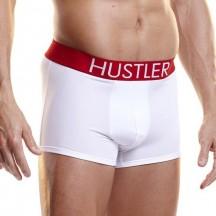 Белые мужские боксеры Hustler на широкой резинке из микрофибры M