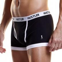 Черные мужские боксеры Hustler на узкой резинке L