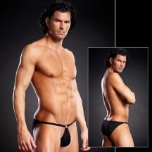 Сексуальные черные мужские pouch-бикини L/XL