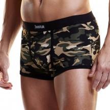 Камуфляжные-хаки мужские боксеры Hustler на узкой резинке XL