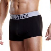Черные мужские боксеры Hustler на широкой резинке из микрофибры M