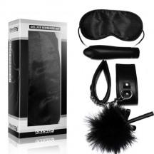 Набор Deluxe Bondage Kit (маска,наручники,тиклер,мини-вибратор)