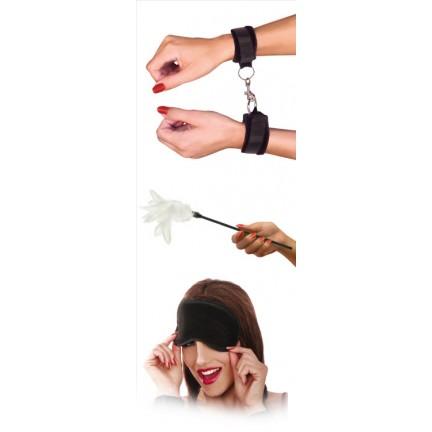 Набор из наручников, маски и перышка Sensual Seduction