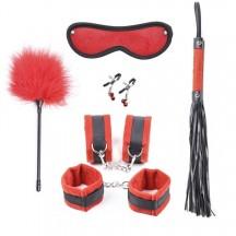 Красный набор БДСМ из 6 предметов