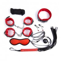 Шикарный черно-красный набор из 8 игрушек