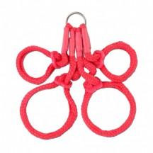 Фиксаторы из японского шелкового бондажа FF Japanese Silk Rope Hogtie Red