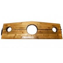 Деревянная колодка с тремя отверстиями