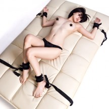 Набор для бондажа к кровати с плюшем