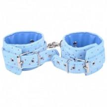 Наручники плюшевые голубые с карабином