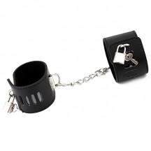 Черные наручники БДСМ