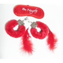 Красный бондажный набор из 3 предметов Be Naughty