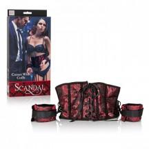 Дизайнерский комплект из корсета-пояса и наручников Scandal