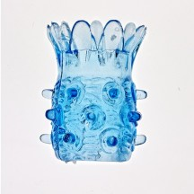 Оригинальная силиконовая насадка на пенис голубая