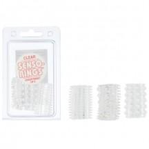 Три тонкие прозрачные насадки Senso Rings