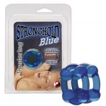 Кольцо для пениса Super Flex голубое