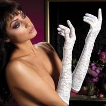 Перчатки из белого цветочного гипюра