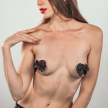 Пэстисы с бантиками Burlesque Blaze красно-черные