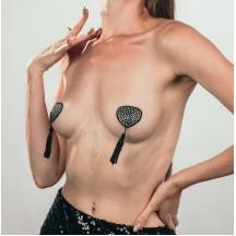 Пэстисы с кисточками Burlesque Evans черно-серебристые